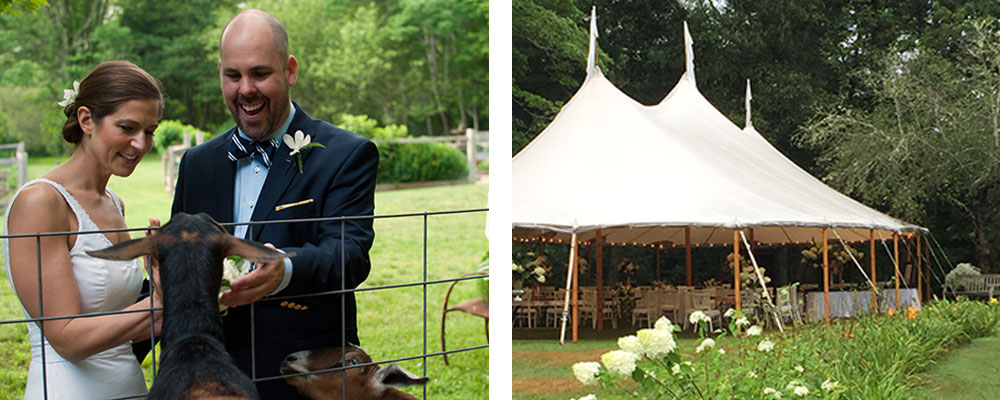 Tent Wedding at Just Right Farm
